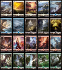 100 Full Art Basic's (20 of Each)