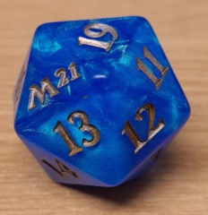 MTG Oversized Spin Down Life Counter D20 Dice Core Set 2021