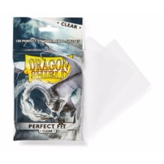 Dragon Shield - Sleeves 100ct (Perfect Fit) - Toploader CLEAR