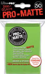 Ultra Pro - Sleeves 50ct (standard) - Pro-matte LIME GREEN