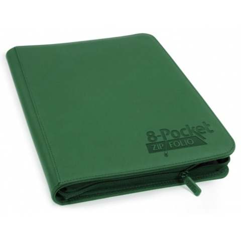 Ultimate Guard Zipfolio XenoSkin - 8 Pocket -  Green