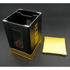 Seer Metal Deck Box - Black and Gold