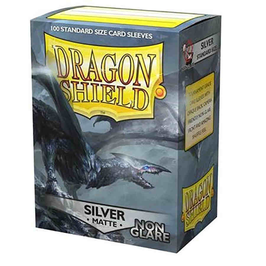 Dragon Shield - Sleeves 100ct (Standard) - Matte Non-Glare SILVER