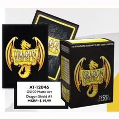 Dragon Shield - Sleeves 100ct (Standard) - Art Matte Non-Glare BLACK 20TH ANNIVERSARY ICONIC