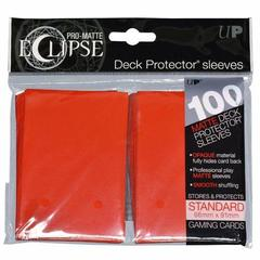 Ultra Pro - Pro Matte Eclipse: Deck Protector 100 Count Pack - Apple Red