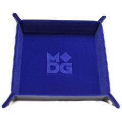 Metallic Dice Games: BLUE dice tray (4-sided)