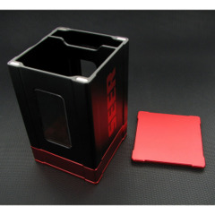 Seer Metal Deck Box - Black and Red