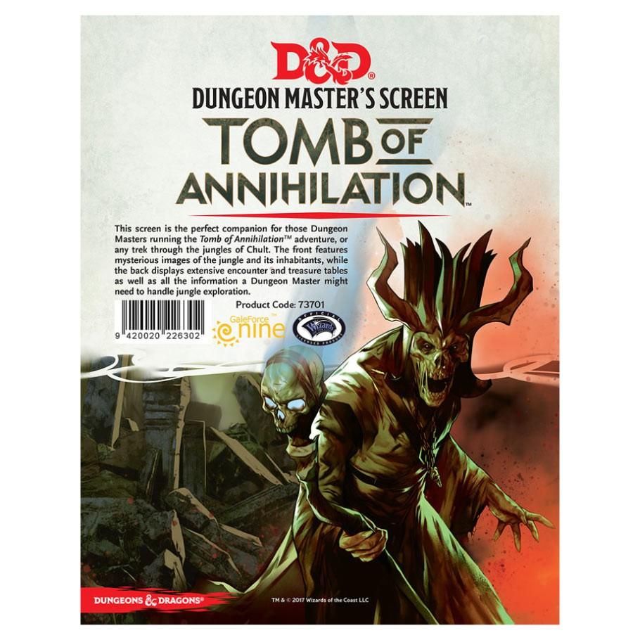 D&D Dm Screen Tomb Of Annihilation