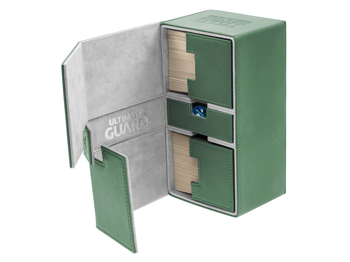 Ultimate Guard - Twin FlipnTray 200 - GREEN