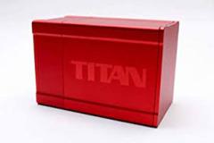 Titan Metal Deck Box - Red