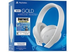 PS4 FORTNITE NEO VERSA GOLD WIRELESS HEADSET BUNDLE (WHITE)