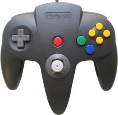 Black Official N64 Controller