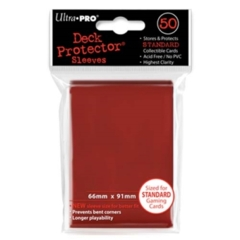 Ultra Pro Solid 50ct Red
