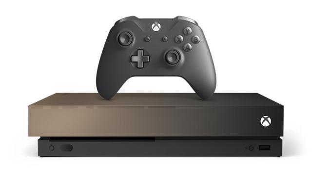 Xbox One X 1TB Console (Gold Rush)