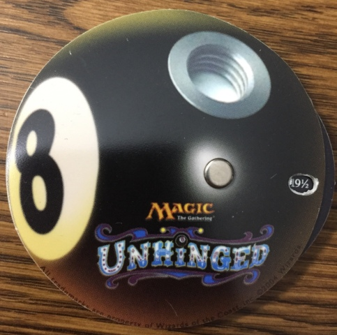 2004 Unhinged Magic the Gathering 8 Ball Vintage Life Counter Wizards of the Coast Promo