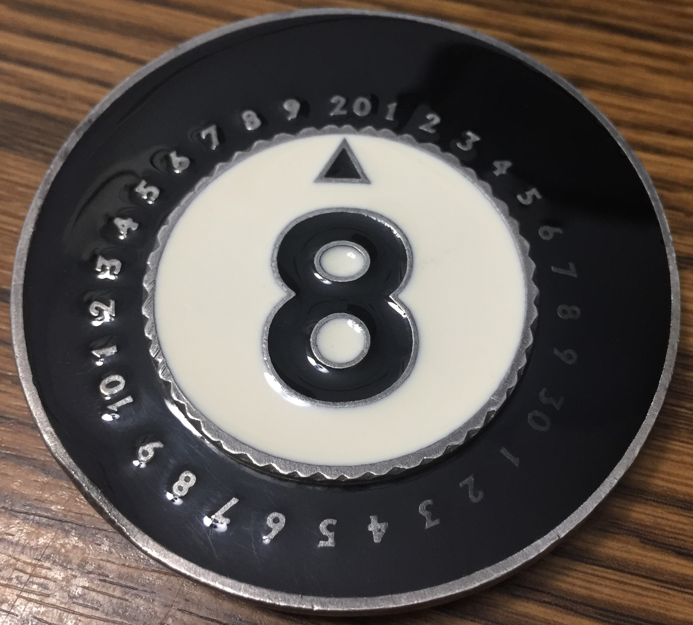1996 Unhinged Magic 8 Ball ProCounters - Pro Counters Life Counter Reaper MTG Magic Miniatures Pewter Metal Enamel Procounter