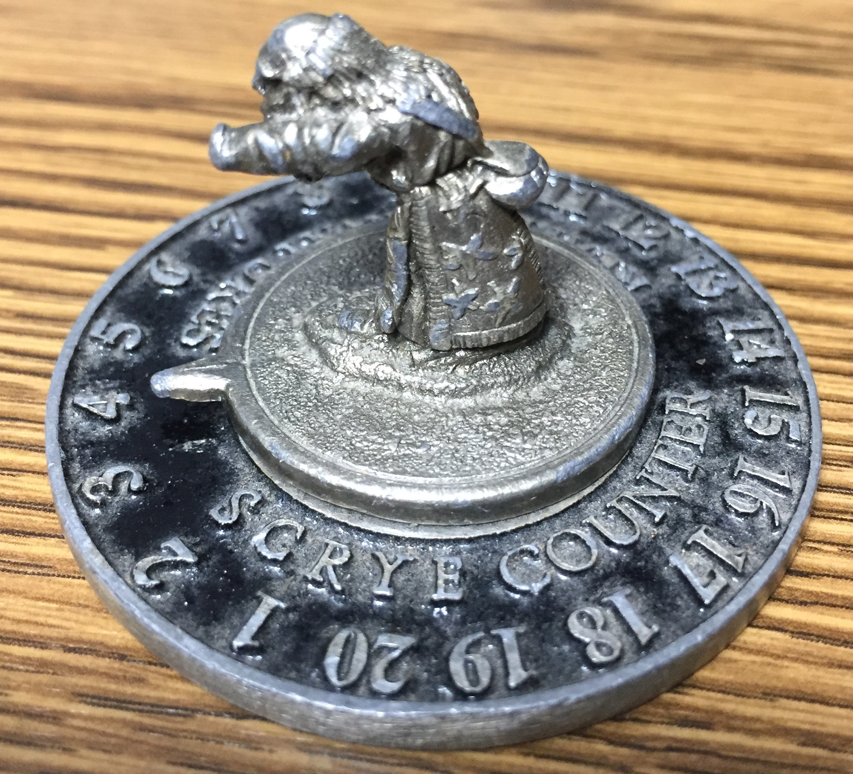 1994 Dwarf (no orb, just nub) - Reaper Scrye Life Counter MTG Magic Pewter Miniatures D&D