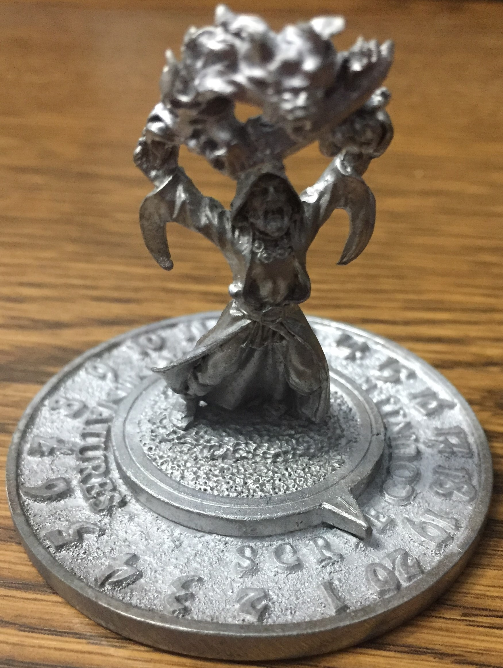 1994 Wizard - Unfinished - Reaper Scrye Life Counter MTG Magic Pewter Miniatures D&D
