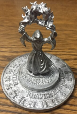 1994 Wizard - Unfinished - Reaper Miniatures Scrye Life Counter Pewter D&D