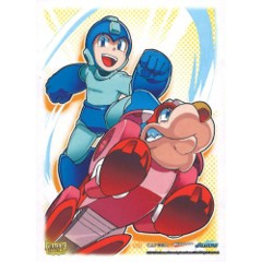 Dragon Shield Mega Man & Rush Art Deck Protectors 100ct Standard Size