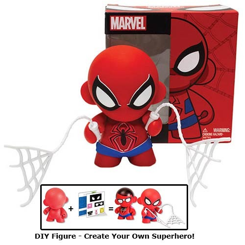 Marvel 4 mini munny spider man diy vinyl figure kidrobot diy solutioingenieria Choice Image