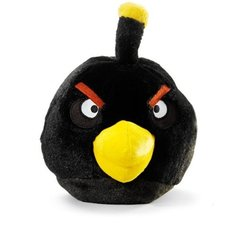 Angry Birds Plush 8-Inch Black Bird With Sound