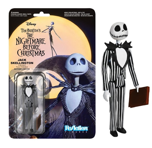 The Nightmare Before Christmas Jack Skellington Smiling Reaction Figure