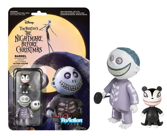 The Nightmare Before Christmas Barrel Funko ReAction Figure
