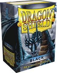 Dragon Shield Sleeves Black Standard Size 100CT