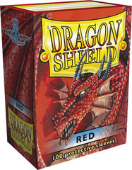 Dragon Shield Sleeves Red Standard Size 100CT