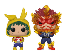 My Hero Academia Endeavor & Young Deku Set of 2 Gamestop Exclusive Pop Vinyl Figures