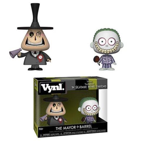 Nightmare Before Christmas Mayor and Barrel Vynl. Figure 2-Pack
