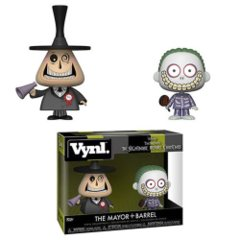 Nightmare Before Christmas Mayor and Barrel Vynl. Figure 2-Pack