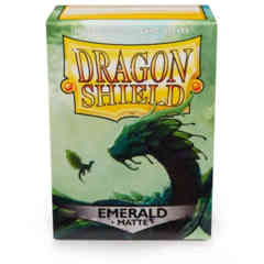 Dragon Shield Matte Emerald Deck Protectors 100ct Standard Size