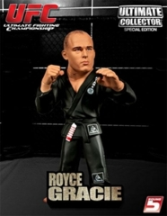 UFC Royce Gracie Black Grey Gi Variant Ultimate Collector Series 4 Figure