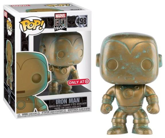 Marvel 80 Years Patina Iron Man Exclusive Pop! Vinyl Figure