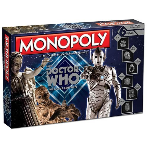 Doctor Who Villain Edition Monopoly Board Game