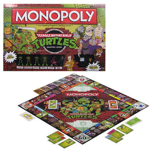 Teenage Mutant Ninja Turtles Retro Edition Monopoly