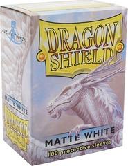 Dragon Shield Matte White Dek Protectors 100ct Standard Size
