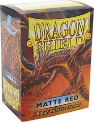 Dragon Shield Matte Red Deck Protectors 100ct Standard Size