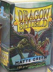 Dragon Shield Matte Green Deck Protectors 100ct Standard Size