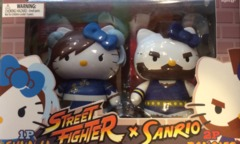 SanRio Hello Kitty x Street Fighter Chun-Li vs Zangief Mini Figure 2 Pack