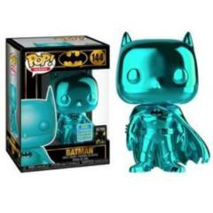 DC Teal Chrome Batman Summer Exclusive Pop Vinyl Figure
