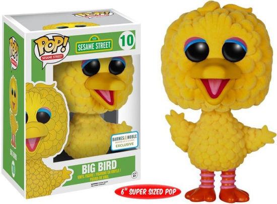 Sesame Street Flocked Big Bird 6-Inch Pop! Vinyl Figure