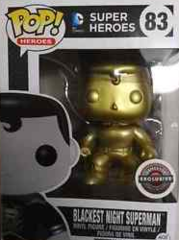 DC Blackest Night Superman Gold Exclusive Golden Pop Vinyl Figure 83