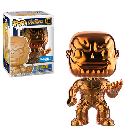 Marvel Orange Chrome Thanos Walmart Exclusive Pop! Vinyl Exclusive