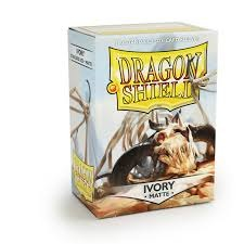 Dragon Shield Matte Ivory Deck Protectors 100ct Standard Size