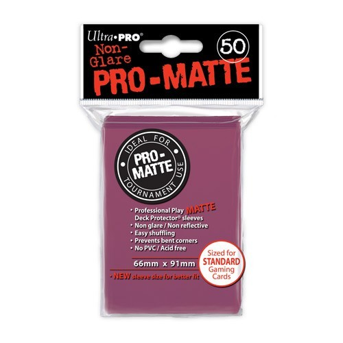 Ultra Pro Pro-Matte Sleeves Blackberry Standard Size 50CT