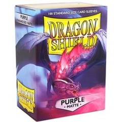 Dragon Shield Sleeves Matte Purple Standard Size 100CT