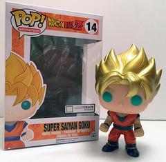 Dragon Ball Z Metallic Super Saiyan Goku Anime Crate Exclusive Pop Vinyl Figure